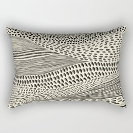 Hand Drawn Patterned Abstract II Rectangular Pillow