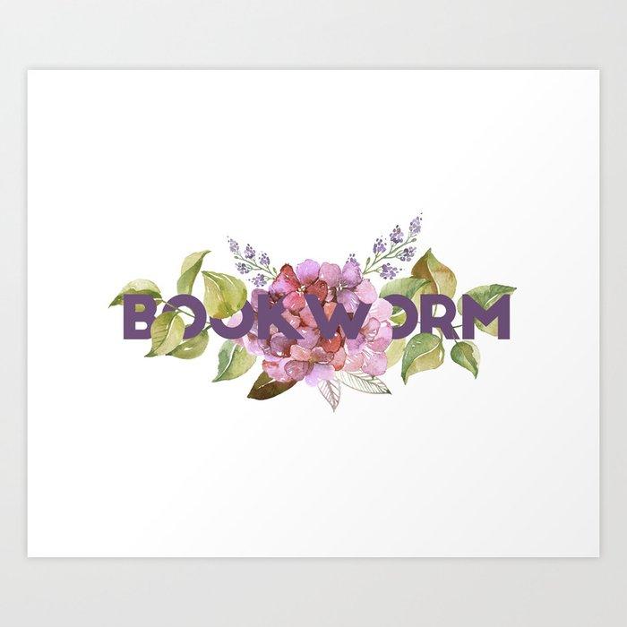 Floral BOOKWORM Kunstdrucke