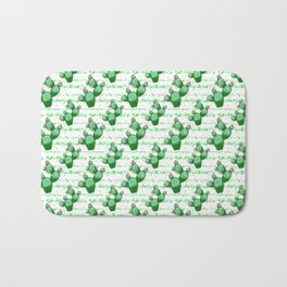 Cactus with pink flowers Bath Mat