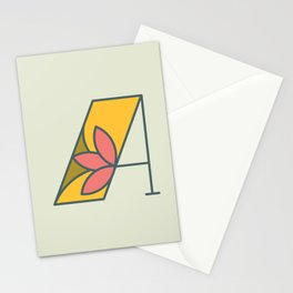 Letter A Stationery Cards