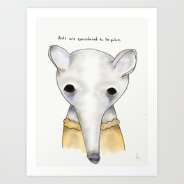 ann anteater Art Print