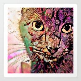 Catnip Daydream (Electric Catnip) Art Print