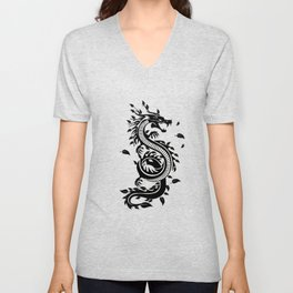 Dragon Yin-Yang Yoga Spring Japan Zen Gift Unisex V-Neck
