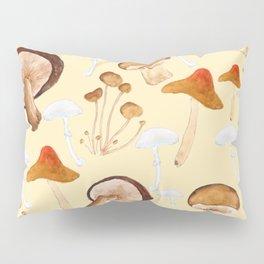 mushroom pattern watercolor painting Pillow Sham