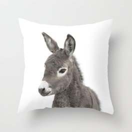 Baby Donkey Throw Pillow