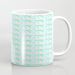 White hen on blue sky Coffee Mug