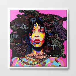 Abstract Modern African Women Metal Print