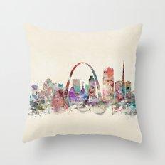 St.louis missouri skyline Throw Pillow
