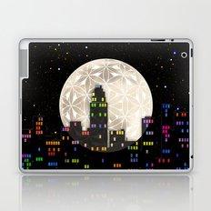 The Flower of Life Moon Laptop & iPad Skin