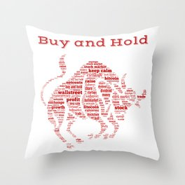 Bull Market Buy And Hold Dividend Shareholder Blockchain Gift Throw Pillow