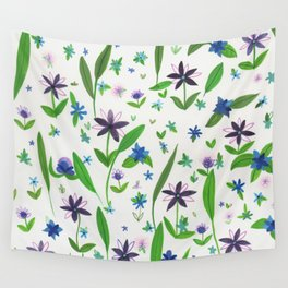 Purple Posies Wall Tapestry