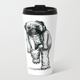Pug costume Metal Travel Mug