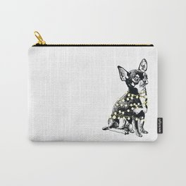 Winter holiday chihuahua dog Carry-All Pouch
