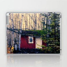Cabin in the Woods (Emerson quote) Laptop & iPad Skin