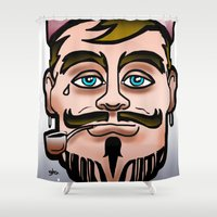 sailor Shower Curtains featuring sailor by viewz