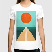 road T-shirts featuring The Road Less Traveled by Picomodi