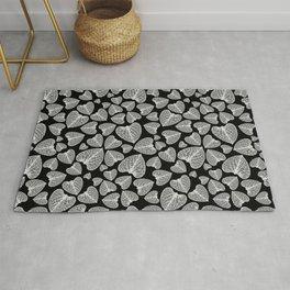 Black White Pattern Rug