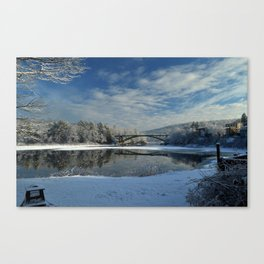 River View - Finally Looks Like Winter Canvas Print