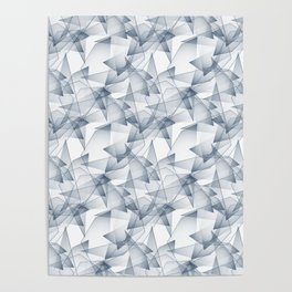Abstract pattern.the effect of broken glass. Poster