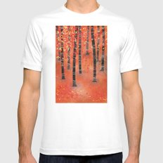 Birches Mens Fitted Tee MEDIUM White