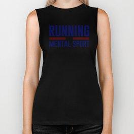 Running Is Mental Biker Tank
