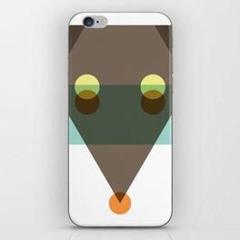 Minimalist coyote iPhone Skin