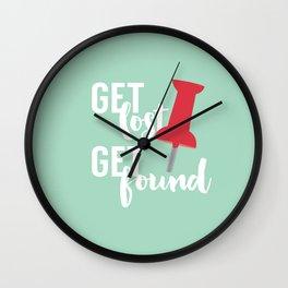 Get Lost Get Found 2.0 Wall Clock