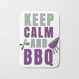 Pitmaster BBQ Barbecue food grill Put my meat in your mouth and swallow design keep calm Bath Mat