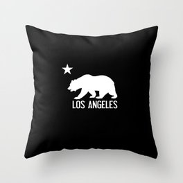 Los Angeles and California Bear Throw Pillow