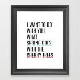 Spring & cherry trees Framed Art Print