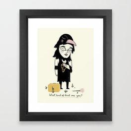 I'm a Raven Framed Art Print