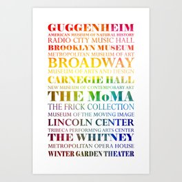 New York City - arts in color Art Print