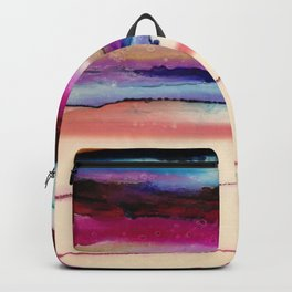 The Sun Sets and Rises Again (an Abstract of Hope) Backpack