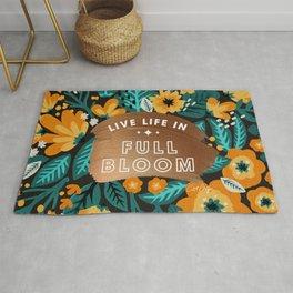 Live Life in Full Bloom – Rose Gold & Orange Palette Rug