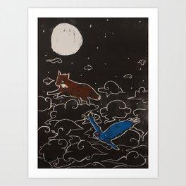 Spacies in the Sky Art Print