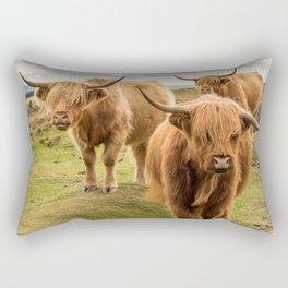 Three Highlanders Rectangular Pillow