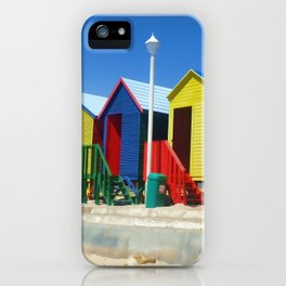 Beach houses at Muizenburg iPhone Case