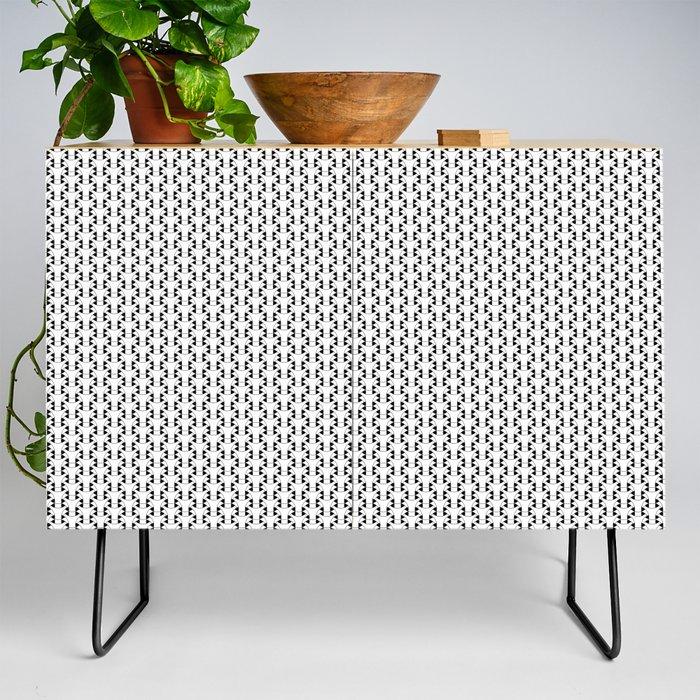 Black and White Basket Weave Shape Pattern 2 - Graphic Design Credenza