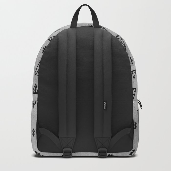 Black abstract tree pattern on concrete  -Mix&Match with Simplicty of life Backpack