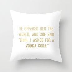 Vodka Soda Throw Pillow