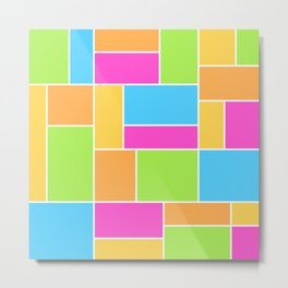 Bright Composition Metal Print