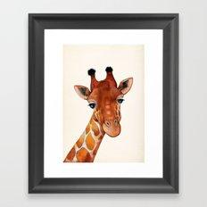 Giraffe Watercolor Framed Art Print