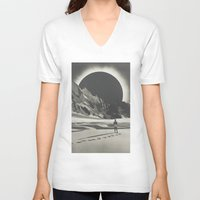 interstellar V-neck T-shirts featuring Interstellar by Douglas Hale