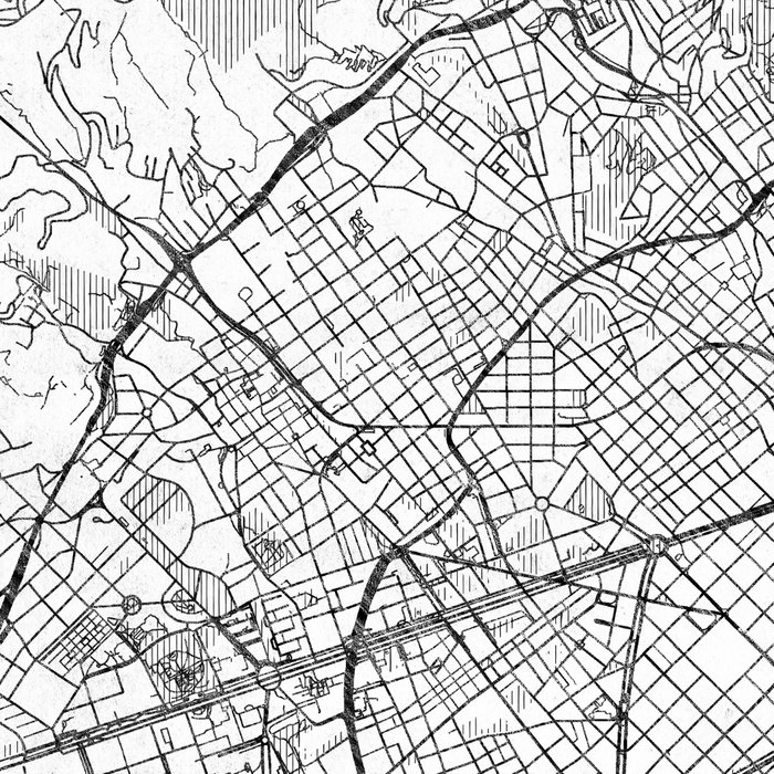Barcelona Map Line Leggings
