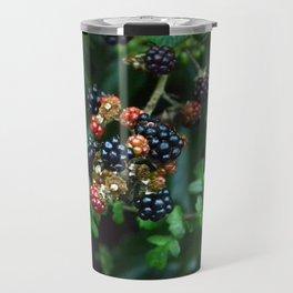 blackberries in red and black Travel Mug