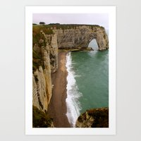 The Cliffs at Normandie ... Normandy Art Print
