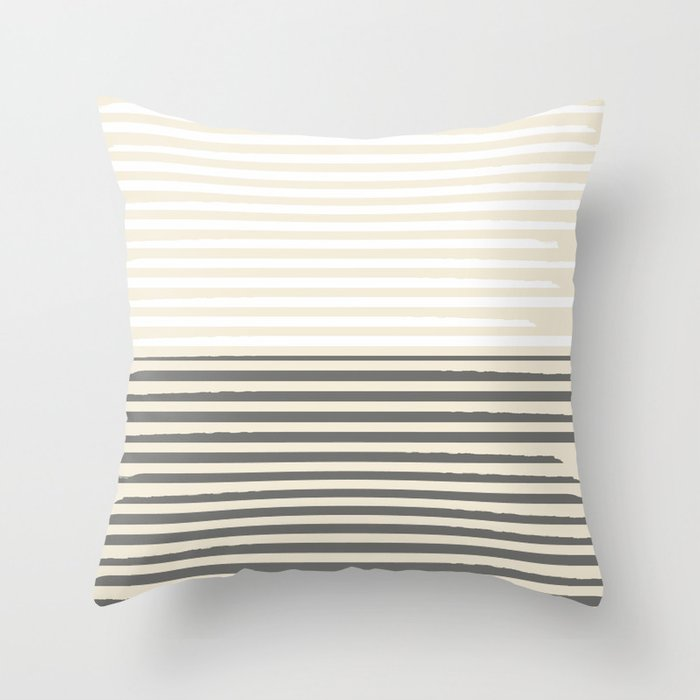 Brush Lines Pattern #society6 #decor #buyart Throw Pillow
