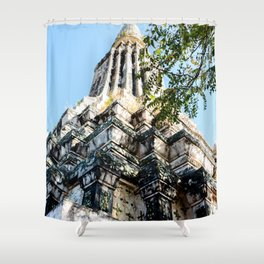 Ang Duong Stupa Shower Curtain