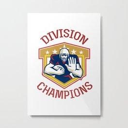 American Football Division Champions Shield Metal Print