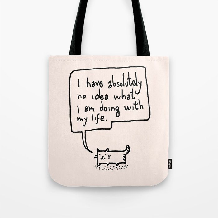 f2f855d65 Little Cat Tote Bag by kittenrain | Society6